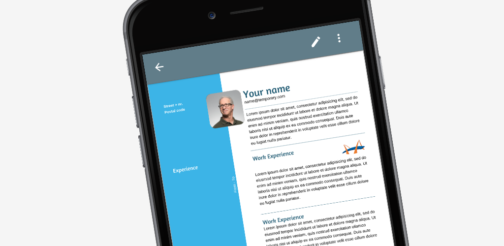 Resume App A Resume Builder App To Make A Great Looking Cv